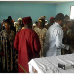 Chief of Mokunda and his entourage is received by Mokunda Women